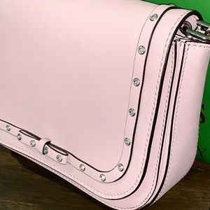 NWT sparkly light soft pink Carsten cross body bag